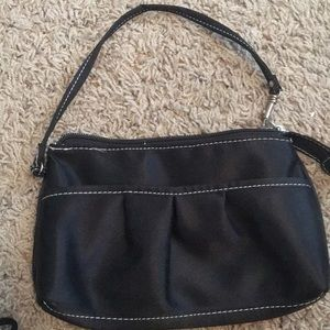 Borghese hand cosmetic bag black wrist grip